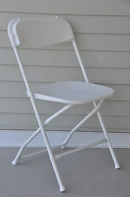 20 Plastic Folding Chairs Commercial White Stackable Wedding Party Event Chair
