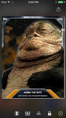 Topps Star Wars Digital Card Trader Orange Jabba The Hutt Base Variant
