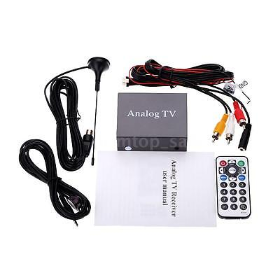 Mini DVB Car DVD TV Receiver Analog TV Tuner Strong Signal Box with Antenna P4I0