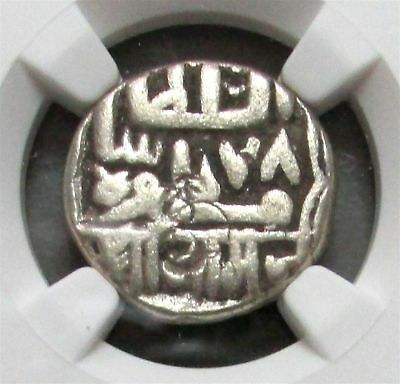Ah (9) 78 Silver India Kori Nawanagar State Coin Ngc Fine Details* Shroff Marked