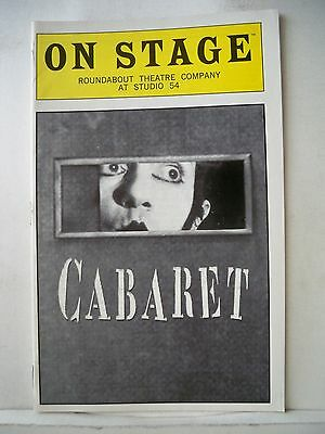 CABARET Playbill JENNIFER JASON LEIGH / ALAN CUMMING / RON RIFKIN NYC 1998