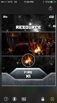 Topps Star Wars Digital Card Trader Resource Fire X1