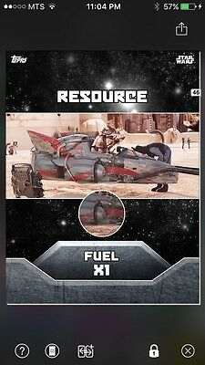 Topps Star Wars Digital Card Trader Resource Fuel X1