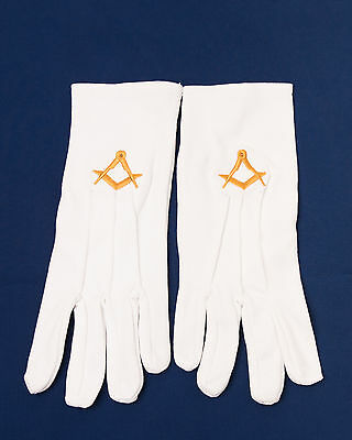Lodge Set of 10 Craft Lodge White Gloves Large (Free Delivery)