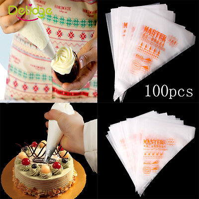 3 Size Disposable Cream Pastry Cake Icing Piping Decorating Drcorate Bags Tools