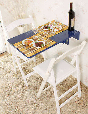 SoBuy® Wall-mounted Drop-leaf Table,Folding Kitchen Dining Table,FWT04-B,Blue,UK