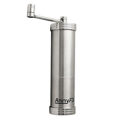 AnnyFa Stainless Steel Hand Manual Coffee Bean Grinder Kitchen Grind Tool Mill