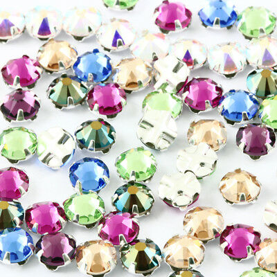 Genuine SWAROVSKI Rose Montees Crystals Prong Set Sew On Craft * Many Colors