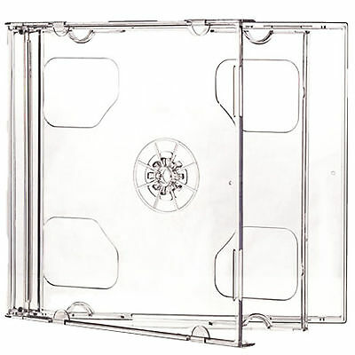 1 X CD DVD Double Jewel Cases 10.4mm for 2 Disc with Clear Tray - Pack of 1