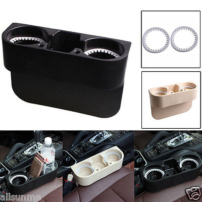 Universal 2 Cup Holder Drink Beverage Seat wedge Car Auto Truck Mount Seat Wedge
