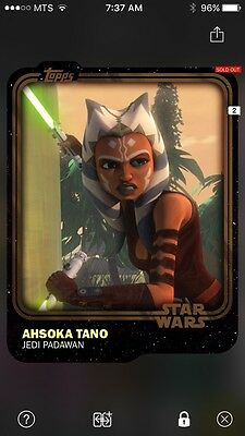 Topps Star Wars Digital Card Trader Brown Ahsoka Tano Base Variant Award