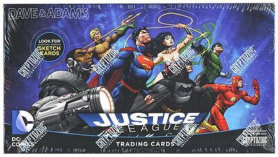 DC Comics JUSTICE LEAGUE Trading Cards Box Cryptozoic-HAND DRAWN SKETCH CARDS!