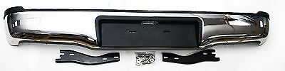 Rear Bumper With Brackets (Stainless Steel) For Toyota Hilux Vigo Mk6/Mk7 05-15