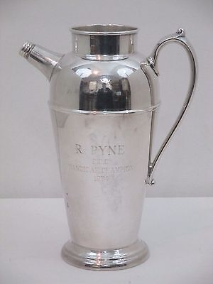 Vintage Crescent Silver Company Silverplated Trophy Pitcher/shaker Engraved 1974