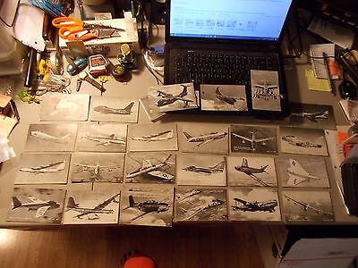Lot Of 25 Vintage Arcade Exhibit Cards Military Planes