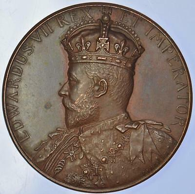 Edward VII - 1902 bronze Coronation medal by Pinches