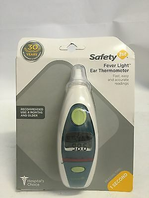 Safety 1st Fever Light Ear Thermometer White Blue 49659 1085