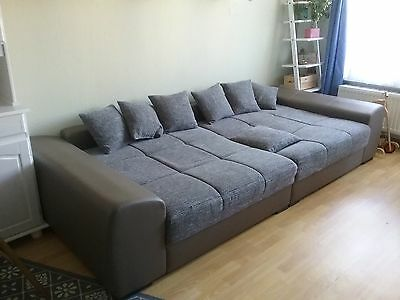 xxl mega big sofa couch grau berlin eur 81 00 picclick de. Black Bedroom Furniture Sets. Home Design Ideas