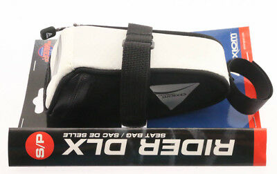 Axiom Rider DLX Road / MTB Bicycle Seat Saddle Bag White/Black Small 38in^3 NEW