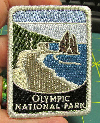 New Traveler Series Patch - Olympic National Park - Washington Embroidered Patch