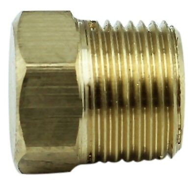 "Brass Plug Fitting - 3/8"" Male BSP - 4350PSI - Tapered (Box of 5)"