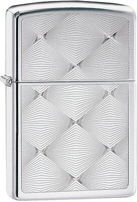 Zippo New 2015 Choice Catalog Engrave Diamond Pattern High Polish Chrome 28951