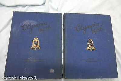 #yy. Original 1936  Berlin  Olympic Books  I & Ii - German Language