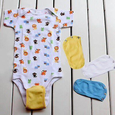 Baby Bodysuit Jumpsuit Romper Extend Diaper Butt Pocket Cover Underwear des