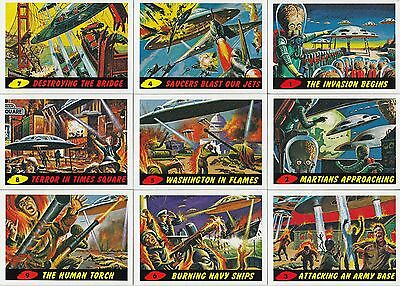 Mars Attacks Heritage 2012 Topps Complete Base Card Set Of 55 Sf