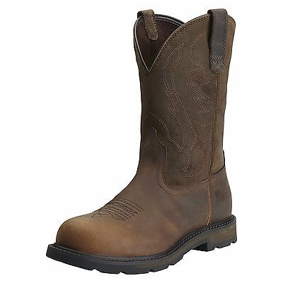 ARIAT - Men's Groundbreaker Steel Toe Boots - Brown /Suede - (10014241) - New
