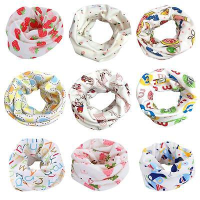 Baby Kids Cotton Neck Scarf Snood Boy Girl Toddler Warmer Round Scarf Wrap Cute