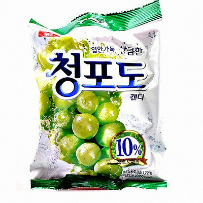 Korea Sweets Lotte Green Grape Candy Chungpodo