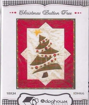 PATTERN - Christmas Button Tree - cute applique & pieced wall quilt PATTERN