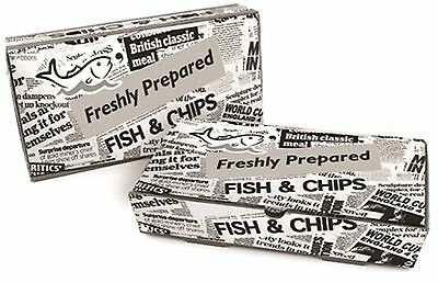 Fish and Chip Meal Boxes - Newspaper Print Box Tray Fast Food Container