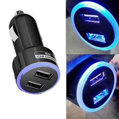 2.1A Mini Dual 2 Port USB Car Charger Adapter for Smart Mobile Cell Phone