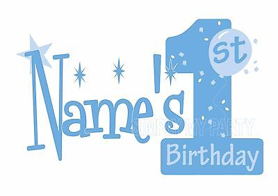 Iron On Transfer Or Sticker - 1St Birthday Boy - Cake Smash - T-Shirt Transfer