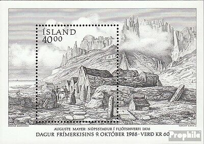 Iceland block9 (complete issue) unmounted mint / never hinged 1988 Day the Stamp