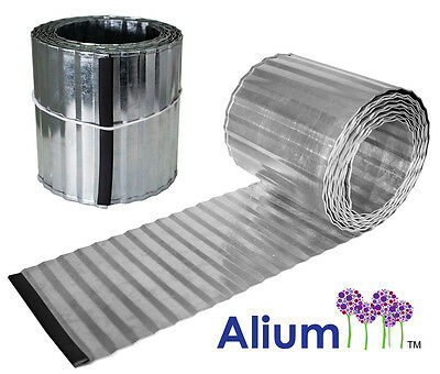 Lawn Edging Roll Galvanised Metal Garden Border Corrugated Steel Landscaping
