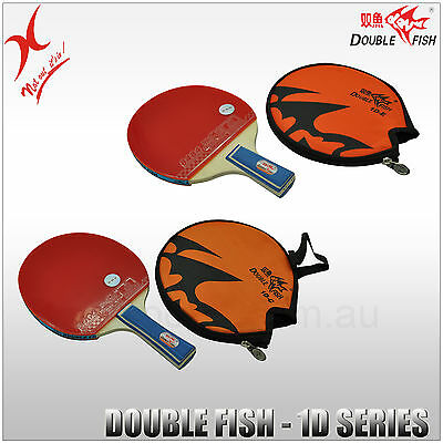 Double Fish Table Tennis - 1D Series Bat - Long Handle / Short Handle Blade