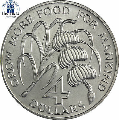 #837 Karibik Montserrat 4 Dollar 1970 Münze der FAO Serie  World Food Day