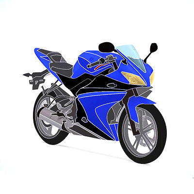Full 20 Piece Fairing Panel Kit Blue/Black for YAMAHA YZF-R125 08-13