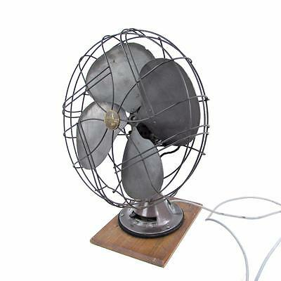 """Vintage Emerson 16"""" Electric Table Fan 3 Speed Oscillating Type 77648-SG - RUNS"""