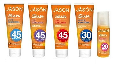 Jason Natural Cosmetics Sun Screen UVA/UVB Protection Skin Care Products