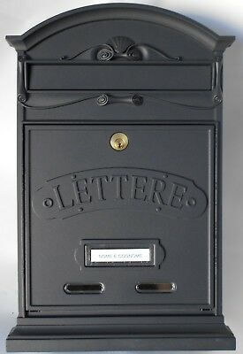 Alubox - Cassetta Postale Lettere - Qualita' Colore Ghisa Metal. Made In Italy