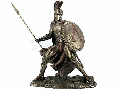 Leonidas with Spear & Shield Statue Greek King Of Sparta Sculpture STATUE - MINT
