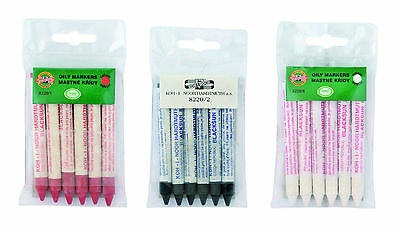Oily Markers Chalk Crayon Write On Smooth Surfaces KOH-I-NOOR 8220
