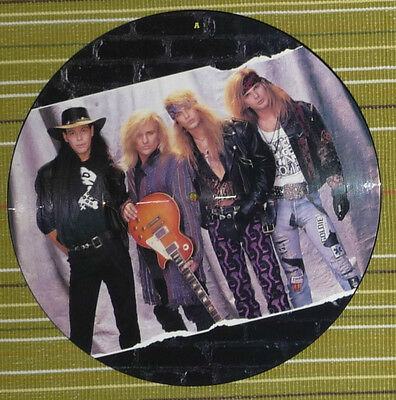 """Poison, Unskinny Bop, 12"""" Picture Disc Ep 1990 Uk Nm/ex Die Cut Foldout Insert"""