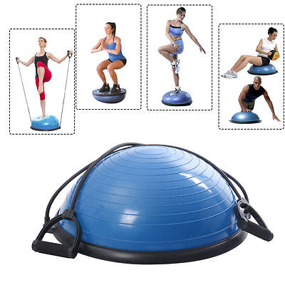 "New 23"" Yoga Ball Balance Trainer Yoga Fitness Strength Exercise Workout w/Pump"