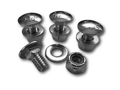 """4pk Carriage Bolts Nuts for 784-5581A Shave Plate Scraper Bar (5/16-18) 5/8"""""""
