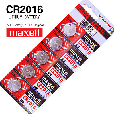 Maxell  CR2016  Batteries Lithium 3V Cell Coin Button Battery